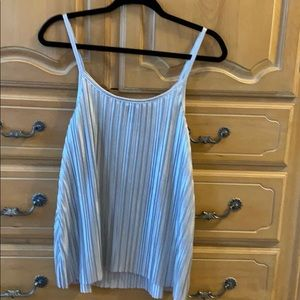 H&M Woman's Silver Shimmery Tank Top